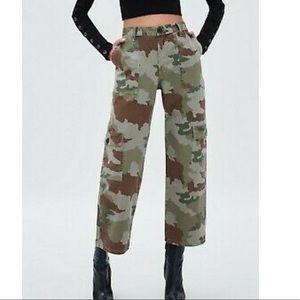 Zara trf camo cargo military pants